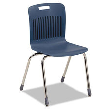 Virco® Analogy Extra-Large Ergonomic Stack Chair - Navy/Chrome - 4/Carton