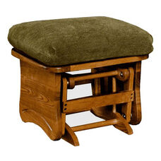 Maple Wood 18''H Ottoman with Solid Side Panel - Maple Finish