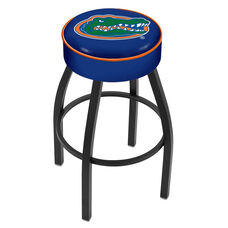 University of Florida 25'' Black Wrinkle Finish Swivel Backless Counter Height Stool with 4'' Thick Seat