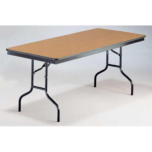 EF Series Rectangular Plywood Core Folding Table - 30''W x 48''L x 30''H