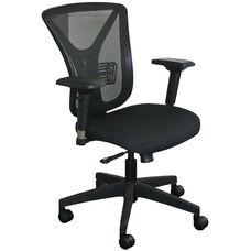 Fermata Executive Mesh Chair with Black Base - Black Fabric