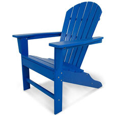 POLYWOOD® South Beach Adirondack - Vibrant Pacific Blue