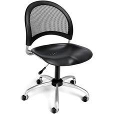 Moon Swivel Plastic Chair - Black
