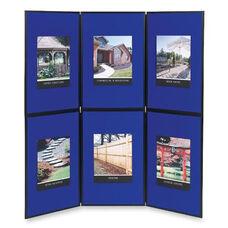 Quartet 6 Panel Floor/Tabletop Display - 72'' x 72'' - Blue
