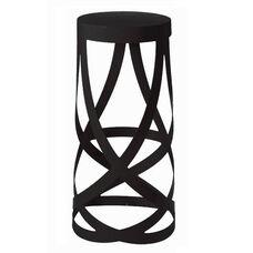 Whirl Black Powder Coat Metal Barstool