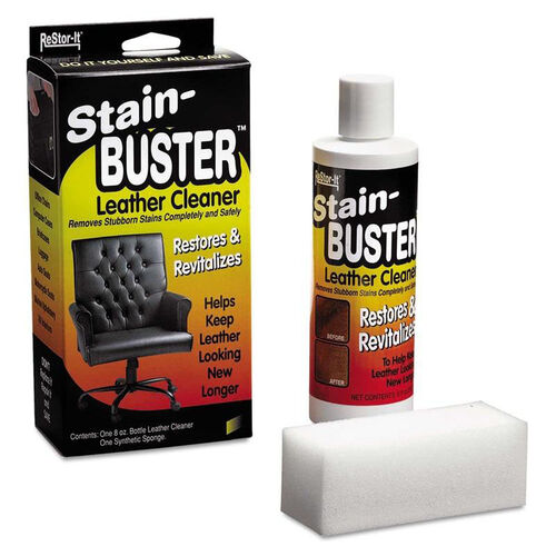 Master Caster® ReStor-It Stain-Buster Leather Cleaner - 8 oz Bottle - 2'' x 6 3/4'' Pad
