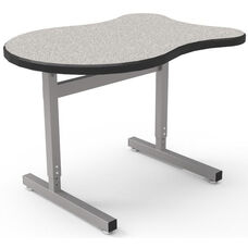 Une-T Adapt Adjustable Height Desk with Beveled Lotz Armor Edge Top - 36''W x 24''D x 22.25''H - 31.25''H
