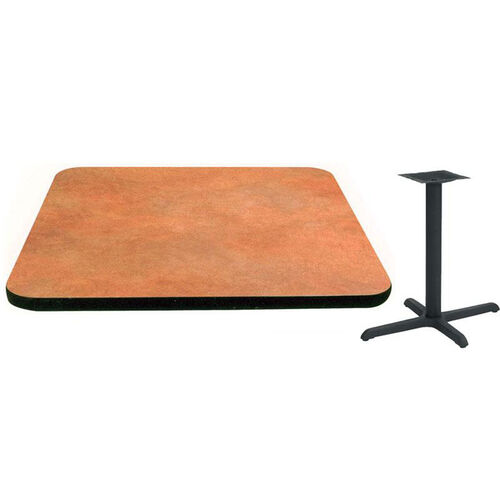 24'' x 48'' Laminate Table Top with Vinyl T-Mold Edge and Base - Standard Height