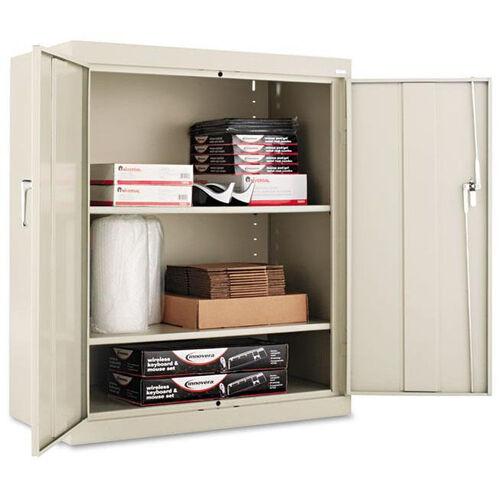 Alera® Assembled 42'' High Storage Cabinet - w/Adjustable Shelves - 36w x 18d - Putty