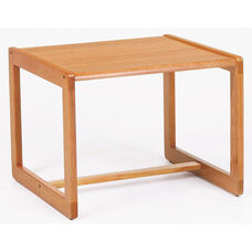 Classic Series Corner Table with Sled Base