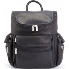 15'' Laptop Backpack - Colombian Vaquetta Leather - Black