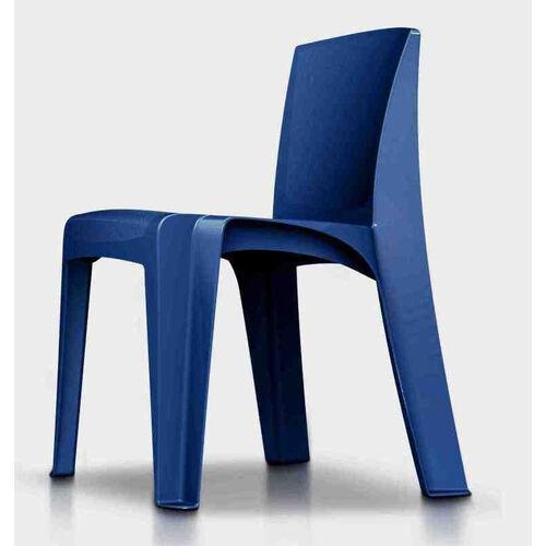 RazorBack Armless Intense Use 30'' H Stack Chair - Slate Blue