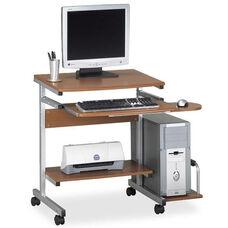 Mayline Group Eastwinds 946 Portrait PC Desk Cart - Medium Cherry Top