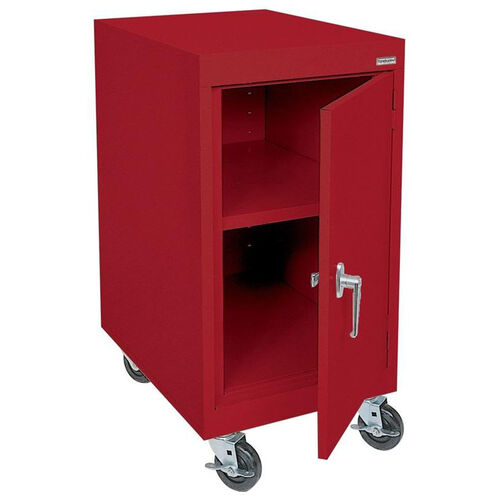 Transport Series 18'' W x 24'' D x 36'' H Work Height Storage with Adjustable Shelf - Red