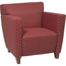 OSP Furniture Custom Fabric Club Chair - Cherry