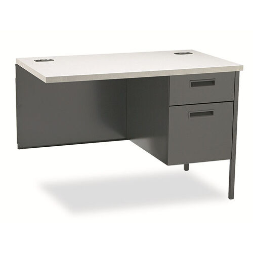 HON® Metro Classic Workstation Return - Right - 42w x 24d - Gray Patterned/Charcoal