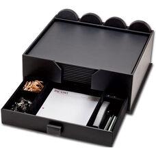 Leatherette 23 Piece Combination Conference Room Set - Black