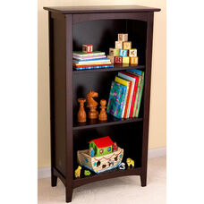 Avalon 45.81''H Tall Childs Wood Bookshelf with Three Shelves - Espresso