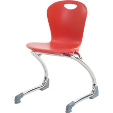 ZUMA Series Cantilever Chair with 13''H Seat Height - 15.5''W x 14.88''D x 23.13''H