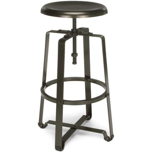 Endure Tall Metal Stool - Dark Vein Seat and Legs