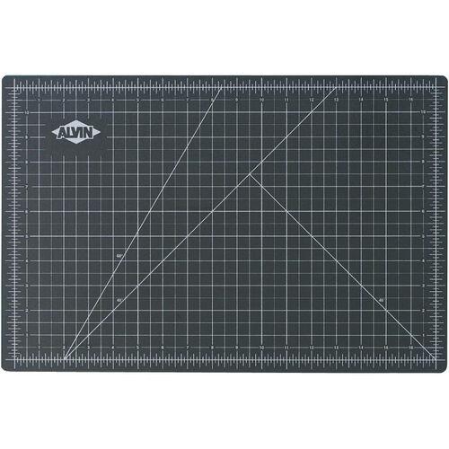 Reversible Black and Green Vinyl Cutting Mat - 12''W x 18''D