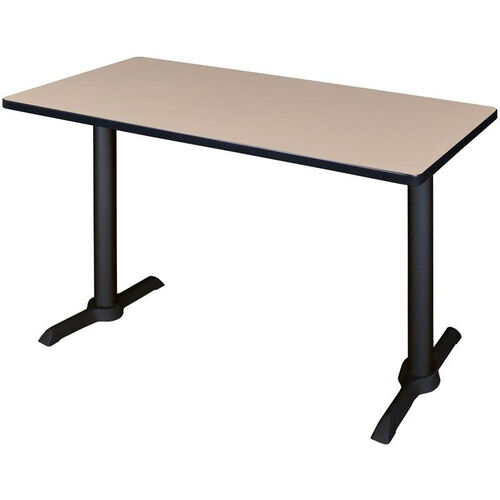 Cain 42''W x 24''D Laminate Training Table with PVC Edge - Beige
