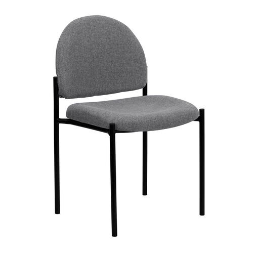 Comfort Gray Fabric Stackable Steel Side Reception Chair