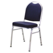 1500 Series Stacking Armless Hospitality Chair with Rounded Back and 3'' Upholstered Box Seat