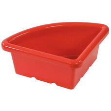 Quarter Circle Plastic Tray For Sand and Water Centers - Red - 15''W x 15''D x 6.9''H