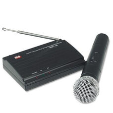 Wireless Handheld Very High Frequency Microphone Kit with Built-In Transmitter - 12''W x 9''D x 3''H