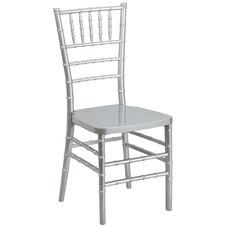 HERCULES PREMIUM Series Silver Resin Stacking Chiavari Chair