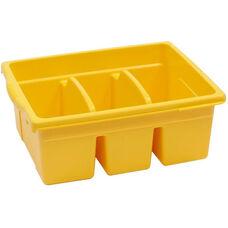 Royal Large Divided Environmentally Friendly Tough Plastic Tub - Yellow - 15.63''W x 12.56''D x 6''H