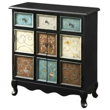 Traditional Apothecary Style 37''H Bombay Chest - Multi Color