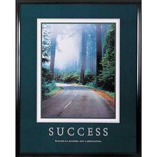 Advantus 24'' W x 30'' L Framed Motivational Art Print - Success with an Open Road