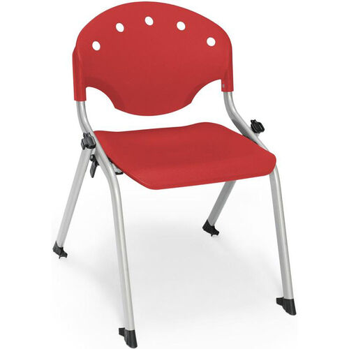 Rico 300lb. Capacity Student Stack Chair with 14'' Seat Height - Red
