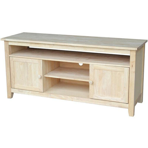 Classic Solid Wood 57''W X 26''H Media Center with 2 Doors - Unfinished