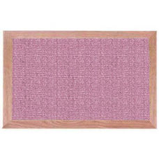 Burlap Weave Vinyl Bulletin Board with Red Oak Frame and Clear Lacquer Finish - Antique Rose - 12''H x 18''W