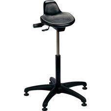 Industrial Specialty Black Polyurethane Sit Stand Stool with ABS Base and Glides