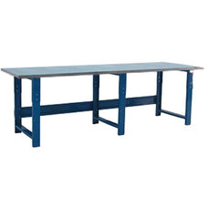Grade 304 Stainless Steel Top Table Production Bench - 36''D X 117''W - Height Adjustable