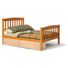 Rustic Style Solid Pine Mission Bed - Full - Honey