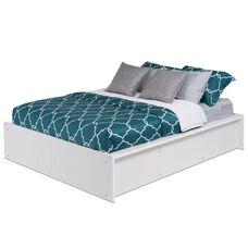 Calla Sturdy King Size Platform Bed - White