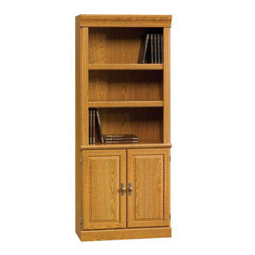 Orchard Hills 71.5''H Library with Double Doors - Carolina Oak
