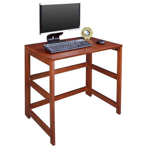 Flip Flop 28''H Rectangular Folding Wooden Desk - Cherry