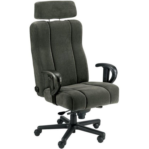 Captain Office Chair with Lumbar Support and Headrest - Leather