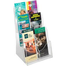 Acrylic Three Plastic Pocket Magazine Display - Clear