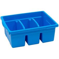 Royal Large Divided Environmentally Friendly Tough Plastic Tub - Blue - 15.63''W x 12.56''D x 6''H