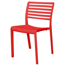 Savannah Outdoor Stackable Armless Side Chair - Red
