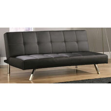 Cooper Sofa Convertible DuraPlush Faux Leather Click-Clak - Black