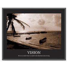 Advantus Sepia-Tone Motivational Vision Poster