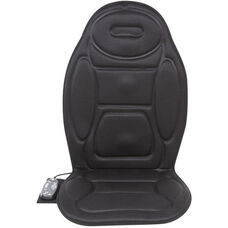 Relaxzen 5-Motor Massage Seat Cushion with Heat - Black